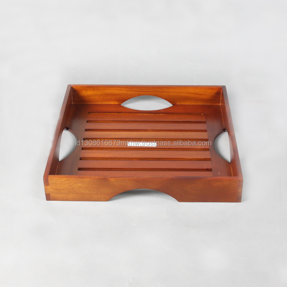 High quality design wooden stally serving tray
