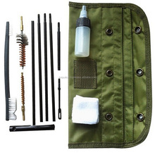 AR-15 / M16 Cleaning Kit, Universal Butt Stock Cleaning Kit, For all M16 and AR15 Variants Tactical Rifle Gun Brushes Set