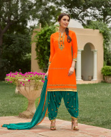 Latest Indian Pakistani Women Wear Superb Fancy Color Combination Wholesale Patiala Salwar Suits