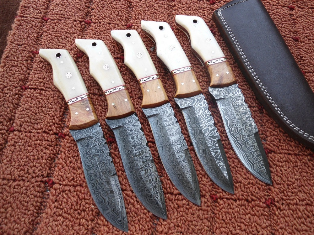 DAMASCUS STEEL HUNTING ANTIQUE KNIVES