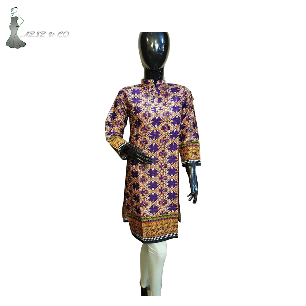 Latest Long Islamic Ladies Printed Dress For Female