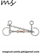 HORSE HANGING CHEEK SNAFFLES HANGING CHEEK COPPER LOZENGE SNAFFLE DOUBLE JOINTED BIT HORSE BITS