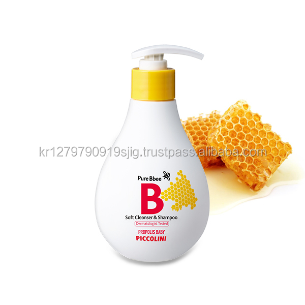 Made in Korea Piccolini PURE Bbee Propolis Soft Cleanser & Shampoo