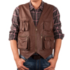 New Brown Leather Vest Made Of