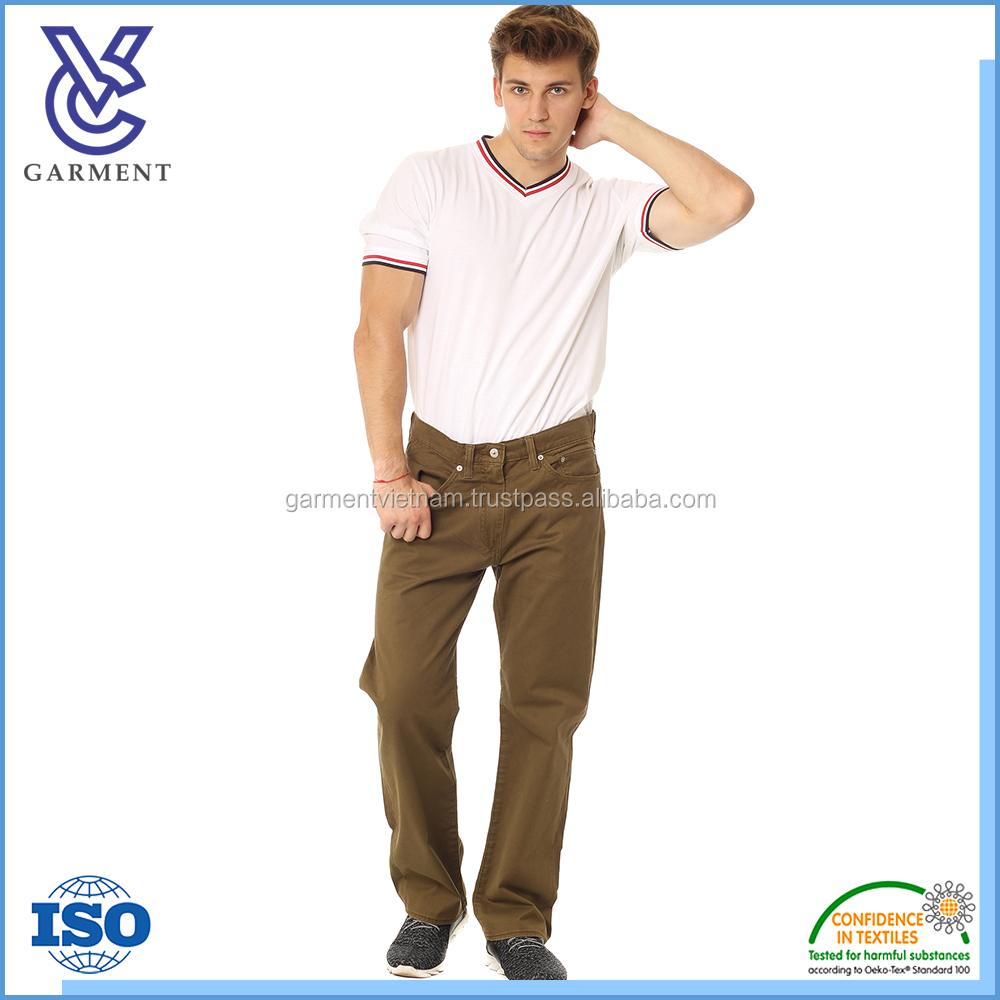 Comfortable high quality mens casual pants from Vietnam supplier