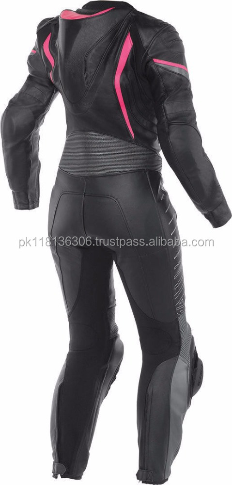 Beutiful LADIES Black & Red COWHIDE MOTORBIKE LEATHER SUIT MOTORCYCLE WOMEN RACING SUIT ALL-SIZE