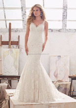 TOP Timeless Cutout Beautiful Lace Mermaid Bridal Wedding Dress Patterns