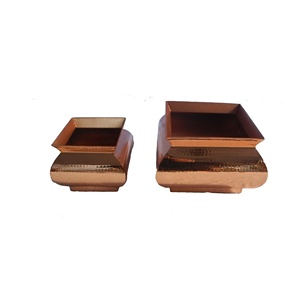 rectangular copper planter