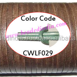 Leather Cords 2.5mm flat, metallic color - shell. Weight: 550 grams. CWLF25029