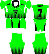 2017 Customized Sublimation American football Uniform / Tackle Twill Jersey / 7 Padded Pant