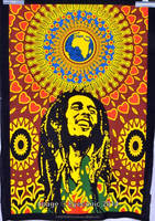 Happy Bob marley Print Batik Home Decor/Wall Hanging Mandala Wholesale Poster Tapestry