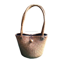 Elegant Hand-Crafted Bamboo Eco Handbag With Shoulder Handles From Thailand