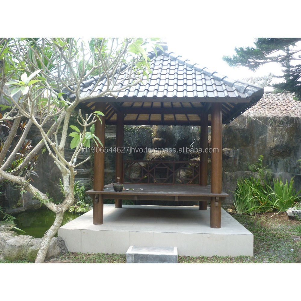 High Quality Long Duration Time Gazebo with Tile Roof/Clay Material of Terracotta