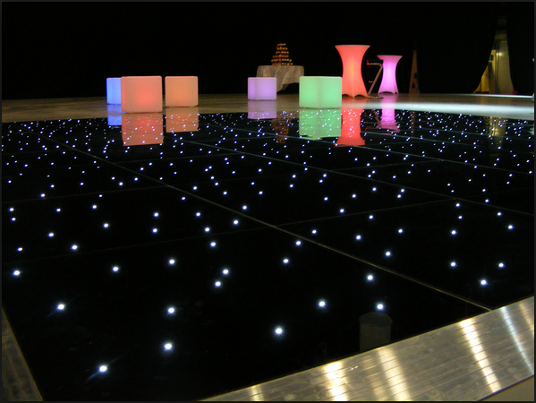 60CM*60CM led light rental glass dance floor with ACRYLIC
