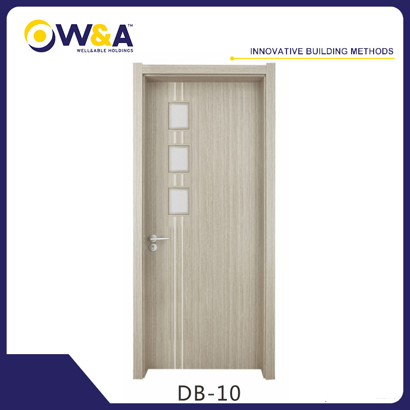 Made In China Design Glass Standard Size WPC Doors Manufacturer