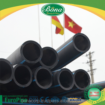 [EUROPIPE] hot sale black PE plastic water supply and agriculture purpose HDPE pipe fitting PE 100
