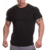 Wholesale garments Cotton spandex muscle fit sports t-shirts fitness gym t-shirts athletic apparel manufacturer