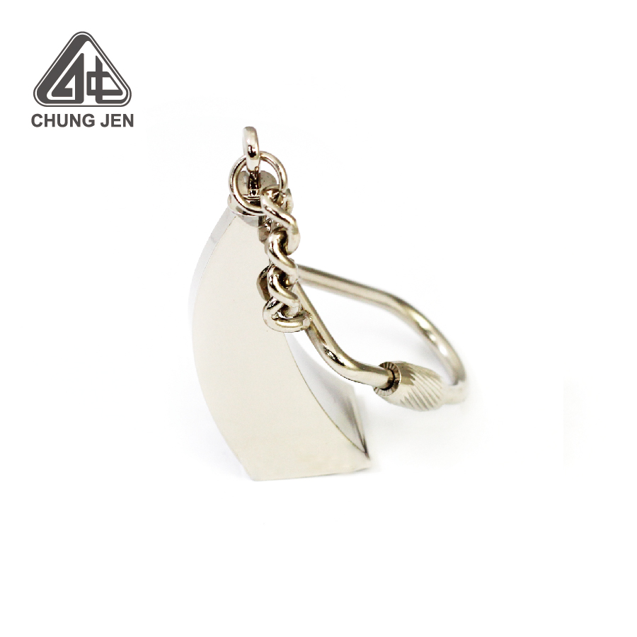 Quality Metal 3D Airport Building Shape Keychain