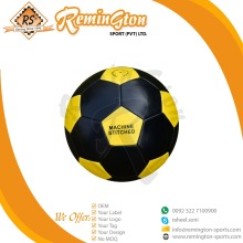 RFS-45 2018 New Machine Stitched branded soccer ball color black with yellow panel
