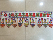 Indian Handmade Moti work Toran Antique Door Topper Decor Hanging Valance