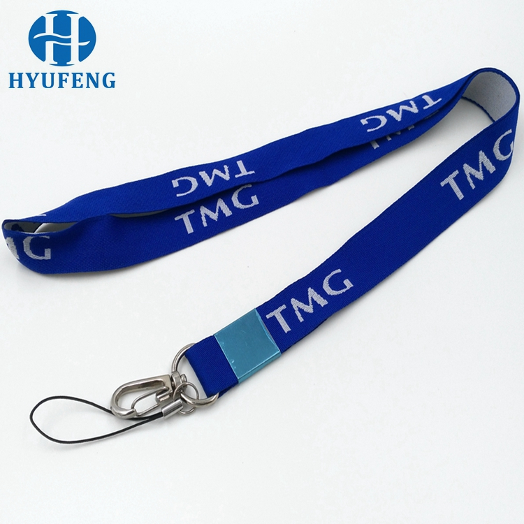 Promotional custom ribbon high quality woven neck lanyard