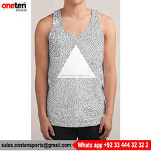 Printed Classical Wholesale Tank Top - One Ten Sports Men Wear