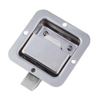 LM-866-28A Handle Us General Tool Box Door Latch Stainless Steel Truck Flush Paddle Recessed Lock