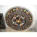 Marble Stone Inlaid Round Shape Coffee Table Top