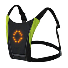 Rechargeable Bicycle LED Wireless <strong>Safety</strong> Turn Signal Light Vest for Riding Night Guiding with Right Left Forward Stop Zip Lights