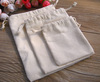Natural Muslin Drawstring Bag/ Organic Cotton Muslin Bag/ Woven Muslin Bag