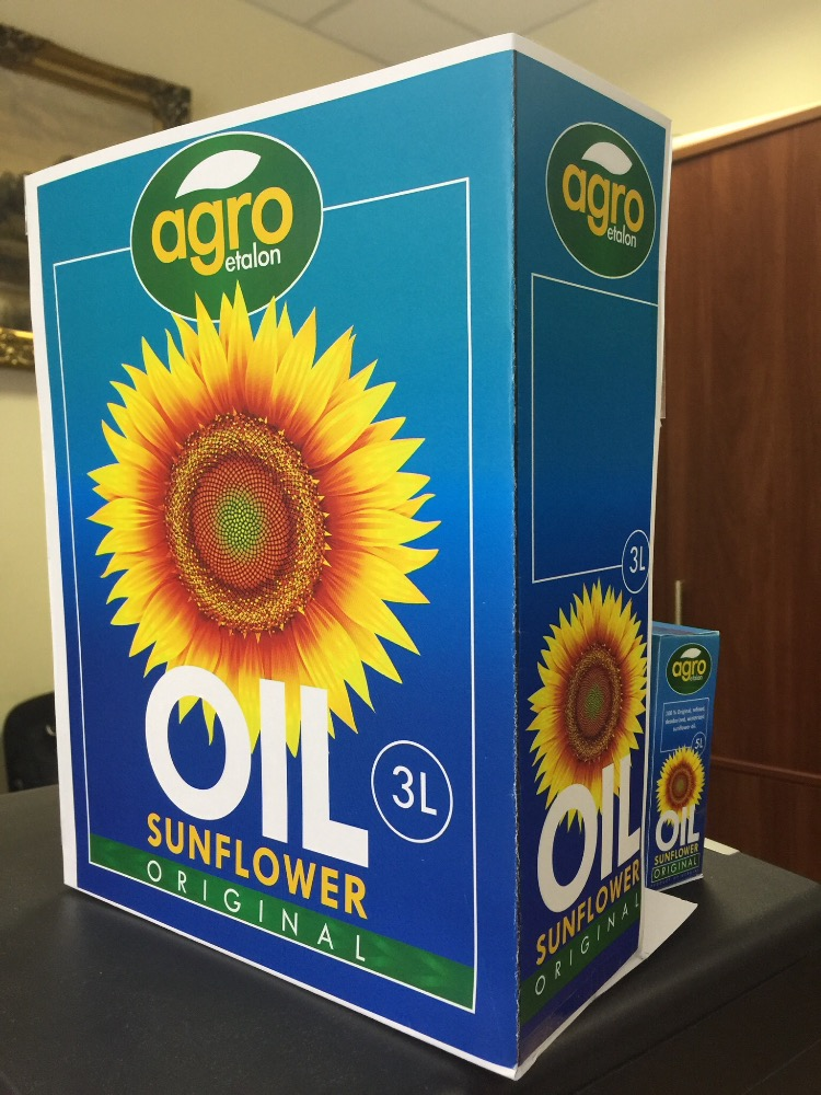 Natural Sunflower Oil in 3-25 liters bag-in-box pack