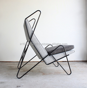 Industrial hardoy butterfly Metal Leather chair
