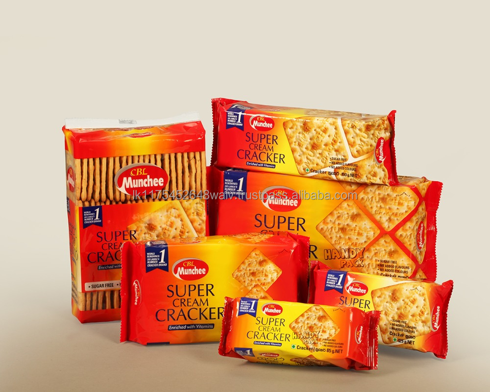Munchee Super Cream Cracker the Ultimate Light Treat Full of Vitamins No Added Sugar Snack for Anytime of the Day Mouthfullnes