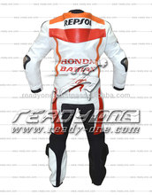 CE Certified Motorcycle Leather Racing Suit motorbike 2pcs suit