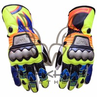 Valentino Rossi Motorbike Racing Leather Gloves 2015