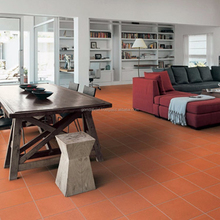 Terracotta brick red color install flooring tile klinker export from Vietnam