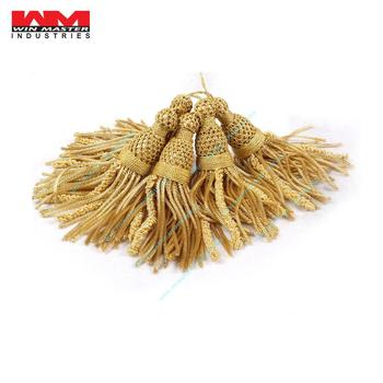 Bullion Wire Metallic Tassels French bullion wire tassels