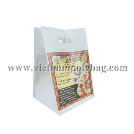 Vietnam cheap price punch out handle plastic packaging bag