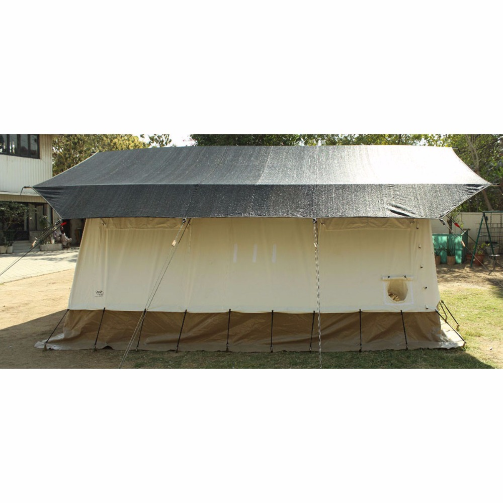 Customized aluminum 33.60 m2 area 2 door, 4 windows camping tent outdoor