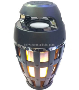 Flame LED lamp Atmosphere speaker