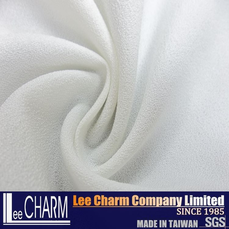 LCSH053 Pleated 100 Polyester Crystal Crepe Fabric