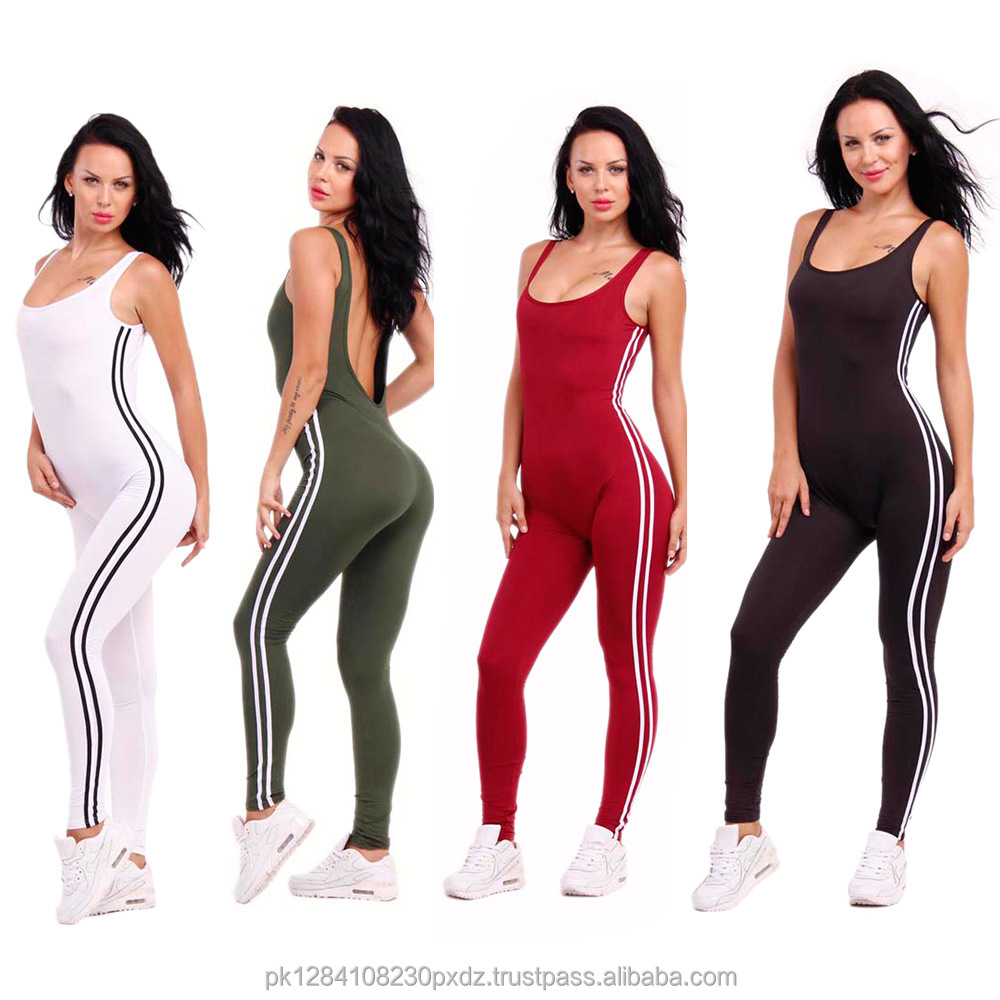 Sleeveless Slim Sexy Women Sport Jogging Yoga Jumpsuits