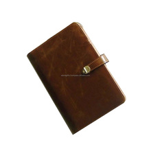 Colorful book leather diary cover with snap closure for small size quran bible book
