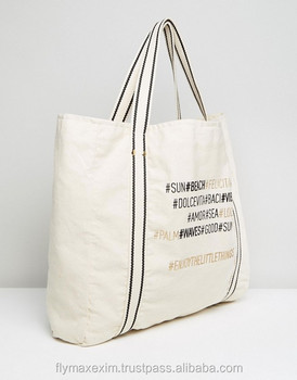 Canvas Tote Bags/ Customized Canvas Beach Bag
