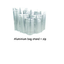 Aluminium stand up pouch with zipper/aluminium packaging bag with stand and zip/packaging bag with stand and zip