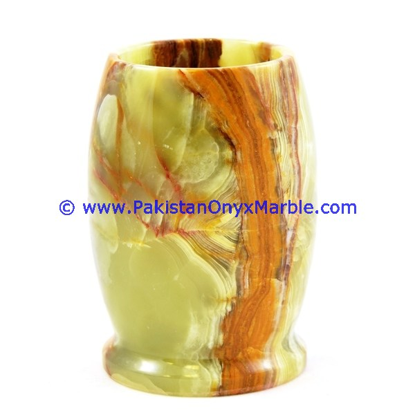 BEST QUALITY ONYX PENCILS JARS ROUND SQUARE OVAL SHAPE HOME OFFICE DECOR GIFTS