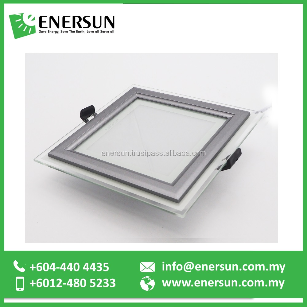 12W 15W 18W or 20W 4inch or 6inch SMD Glass Frame LED square recessed Downlight from Malaysia