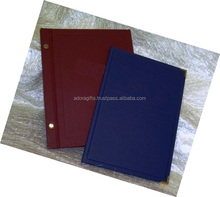 Colorful restaurant menu cover/ leather menu card/pu leather wholesale price menu cover