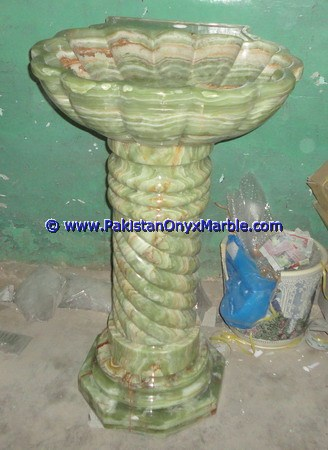 MANUFACTURER AND EXPORTERS ONYX PEDESTALS SINKS BASINS DARK GREEN