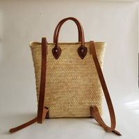 Handmade Straw Backpack - French Basket